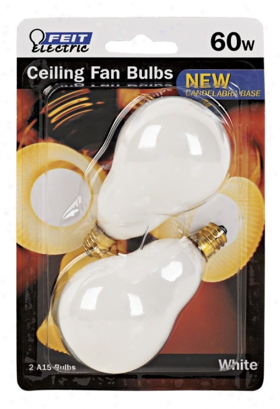 Feit 2-ppack 60 Watt Candelabra Base Ceiling Fan Light Bulbs (86053)