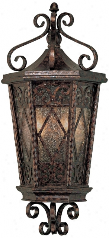 "Felicity Collection 21 3/4"" High Outdoor Pocket Wall Lantern (j6977)"