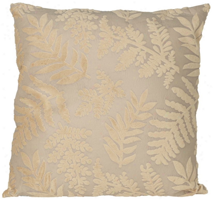 Fern Design Faux Suede 18&quo5; Square Designer Throw Pillow (w1880)