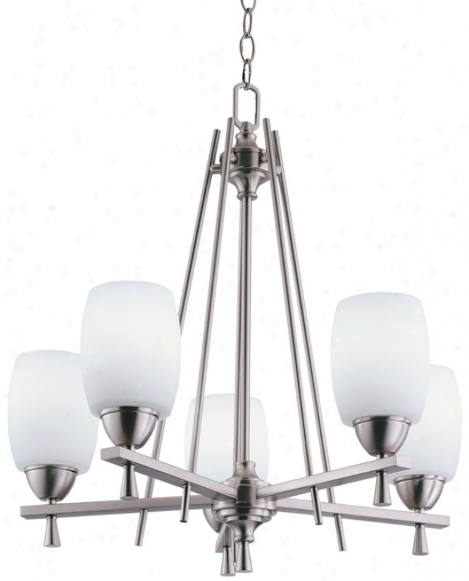 Ferros Accumulation Enegy Star® Brushed Nickel Chandelier (30893)