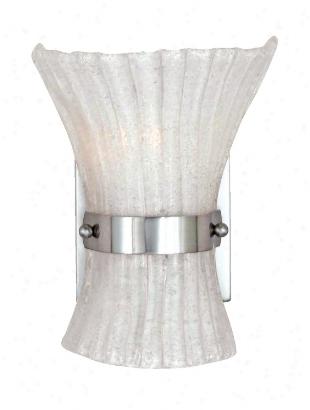 "Fiji Accumulation Brushed Steel 8 1/2"" High Wall Sconce (g6271)"