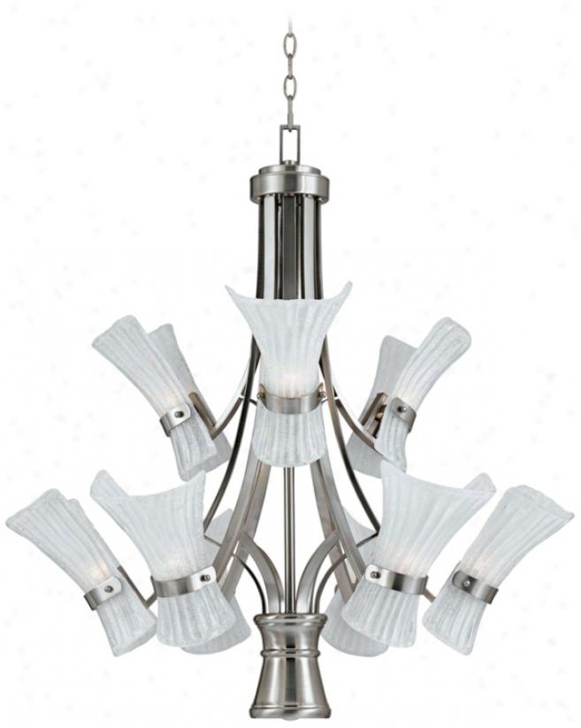 Fiji Collection Nickel 10-light Pendant Chandelier (k1468)