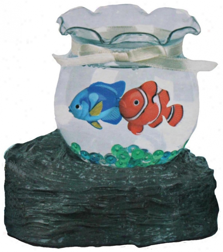 Fish Bowl Battery Operated Decorative Accent (u7850)