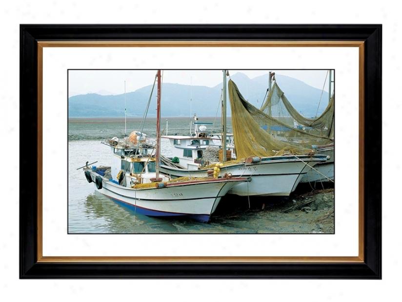 "Fishing Boats Giclee 41 3/8"" Wide Wall Art (54072-80384)"