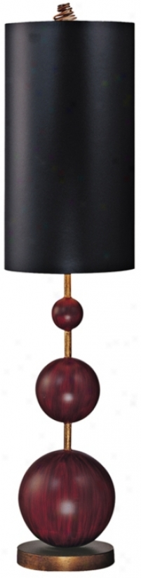 Flambeau Marie Oxblood Red Buffet Table Lamp (41797)