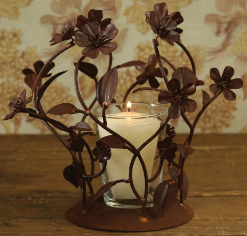 Fleur Metal Candleholder (n2185)