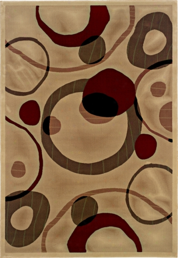 "Floating Circles 2' 3""x7' 9"" Runner (42112)"