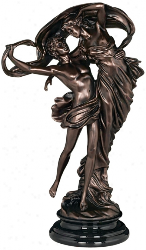 Floating Dancing Brace Bronze Finish Sculpture (m0501)
