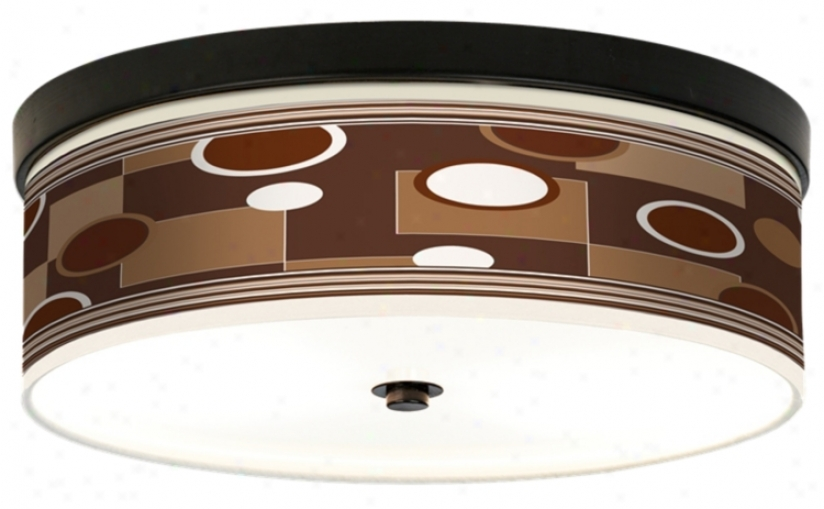 Floating Giclee Bronze Cfl Ceiling Light (h8795-j4076)