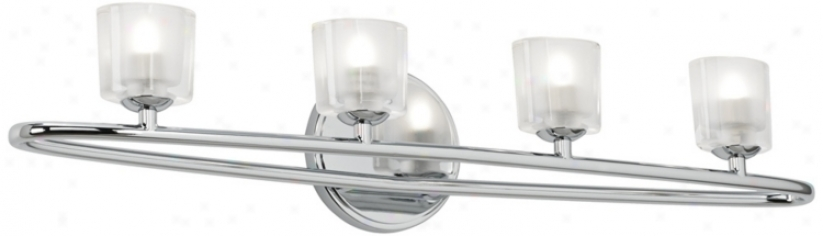 "Floating Oval 28 1/2"" Wide Chrome And Glass Bathroom Light (u8937)"