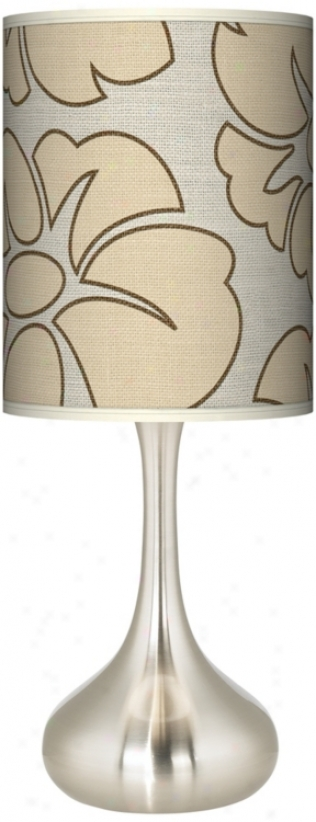 Floral Silhouette Gicl3e Kiss Table Lamp (k3334-t5822)