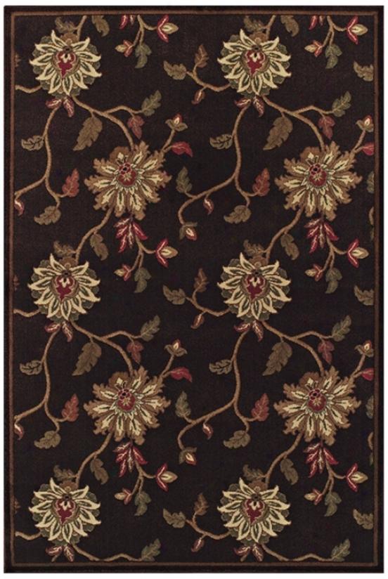 """Floral Vine Pine marten 7' 10""""x10' 7"""" Area Rug (j6014)"""