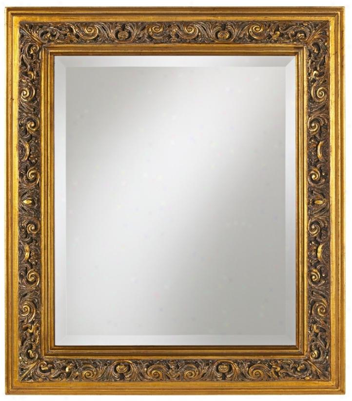 """Florentine Acanthus Leaf 32"""" High Wall Mirror (n9561)"""