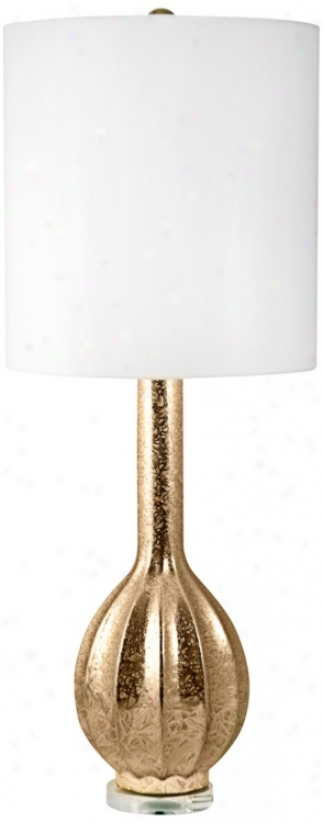Fluted Gold Ceramic Table Lamp (v2526)