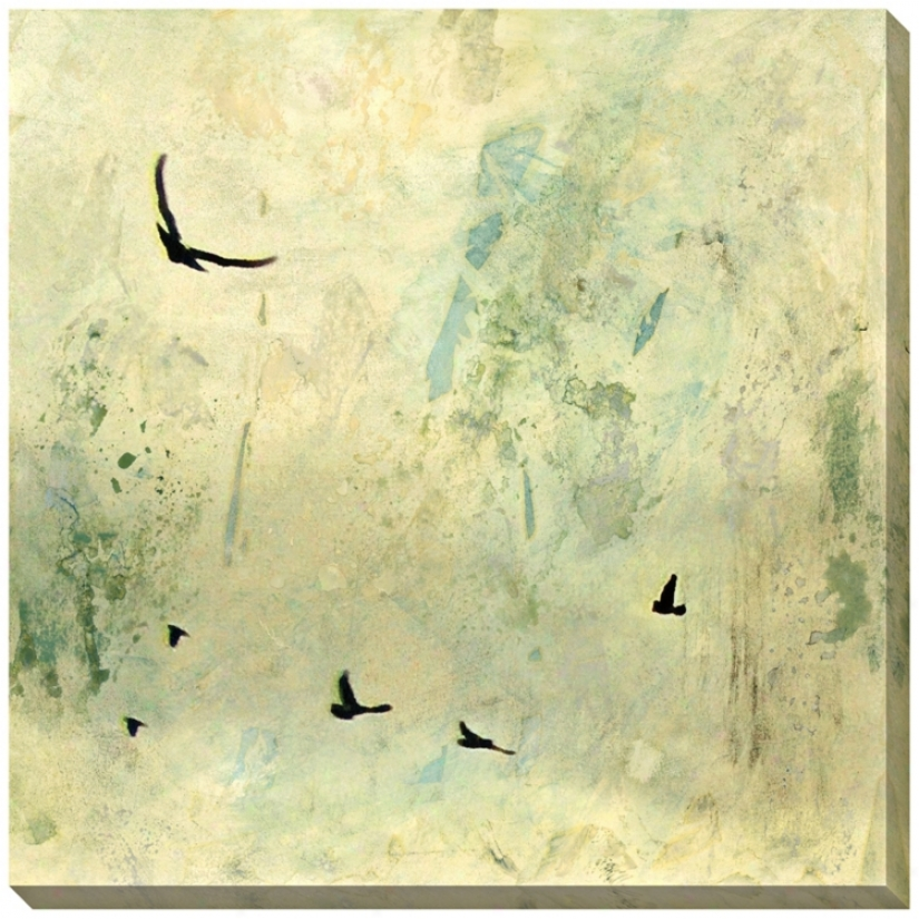 "Fly Away I Giclee Print Indoor/outdoor 40"" Square Wall Art (l0717)"