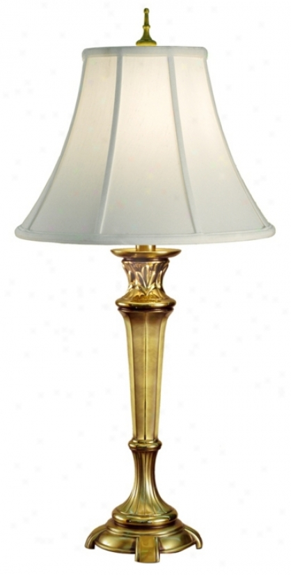 Footed Florengine Brass Finish Buffet Lamp (j6555)