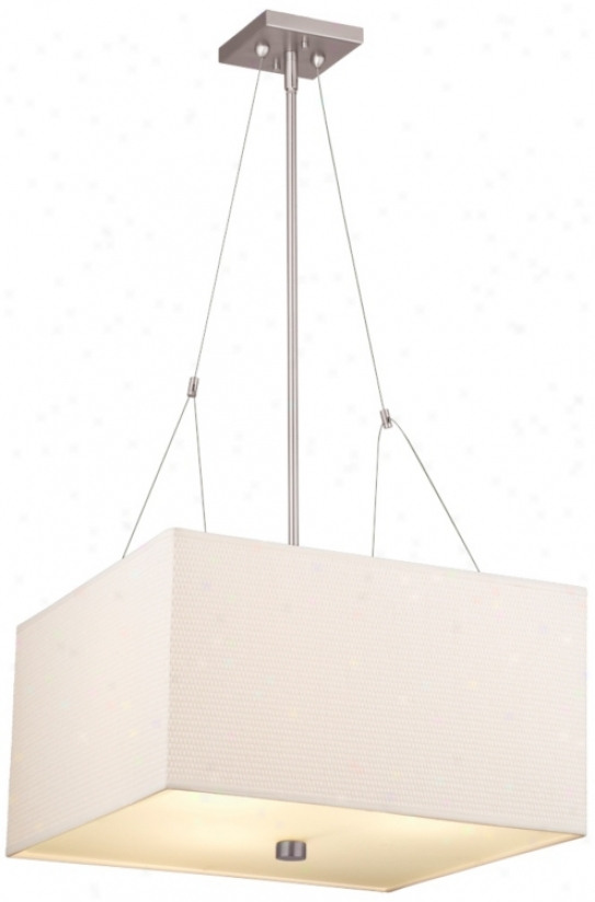 Forecast Alexis Nickel Three Light Equality Pendant Chandelier (g8809)