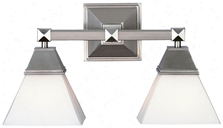 "Forecast Redden  16"" Wide Satin Nickel Bathroom Light Fixture (08400)"