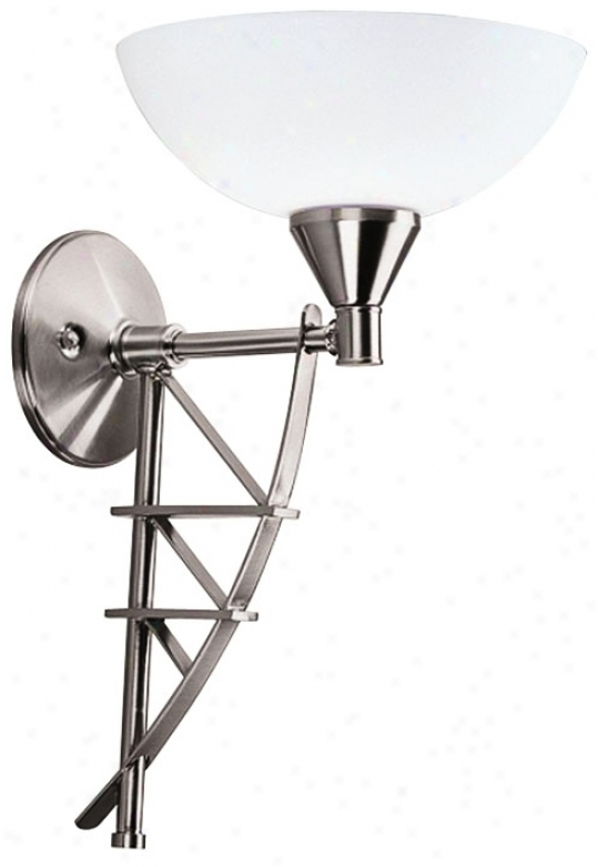 "Foredast Delineation 4 1/2"" Satin Nickel Wall Sconce (g5057)"