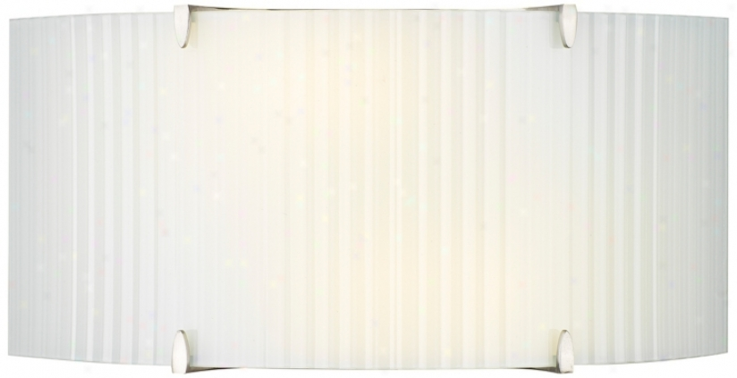 Forecast Edge Bow White Rib Ada Compliant Wall Sconce (g4970)