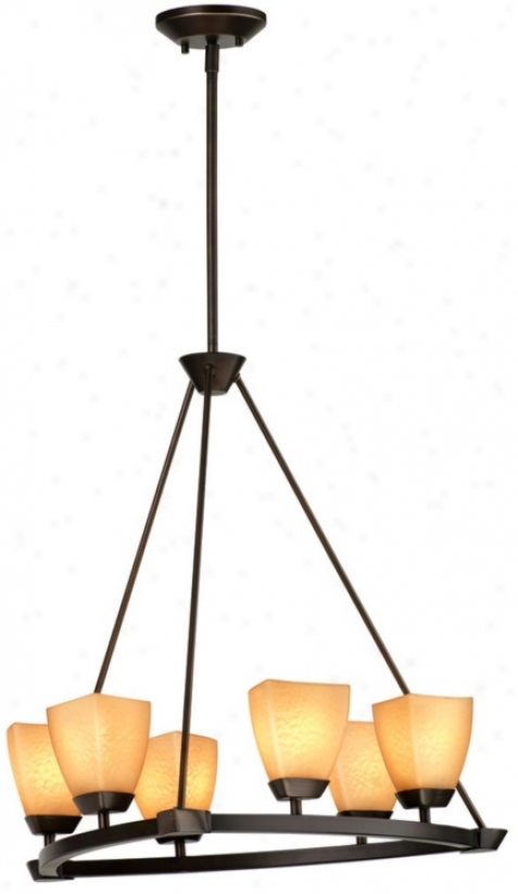 "Forecast Evan 22"" Wide Bronze 6-light Chandelier (g8930)"