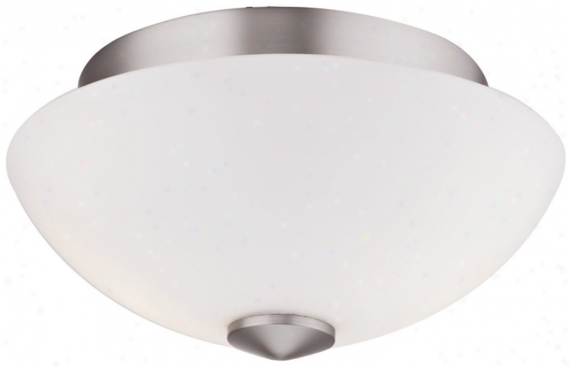 "Forecast Emit Collection 12 1/2"" Wide White Ceiling Light (g5065)"