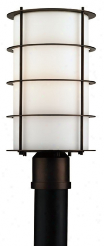 "Forecast Hollywood Hills Bronze 16"" High Post Mount Light (47103)"