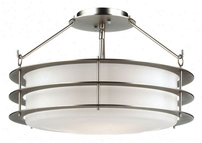 "Forecast Hollywood Hills Silver 18"" Ceiling Light Fixture (46880)"