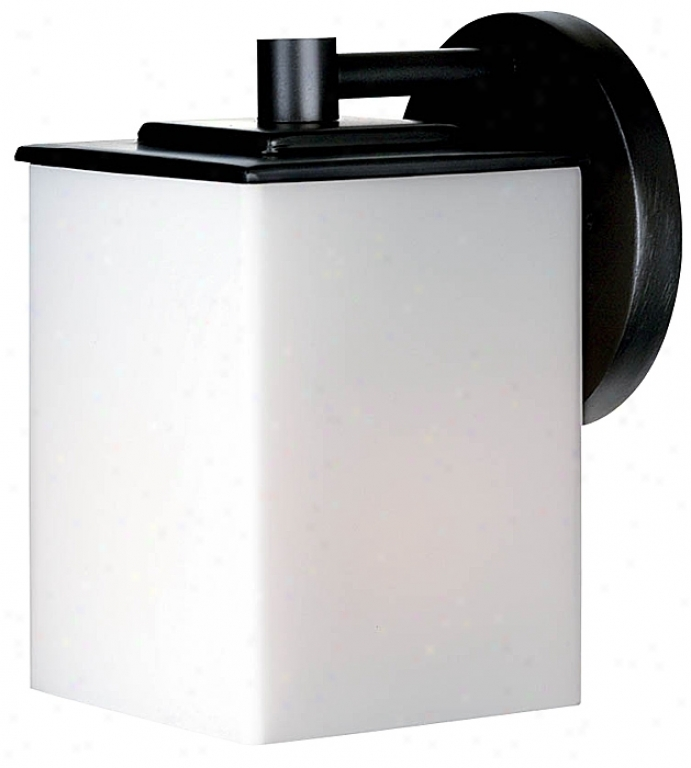 "Forecast Midnight Collection 7"" Sqquare Black Outdoor Light (09252)"