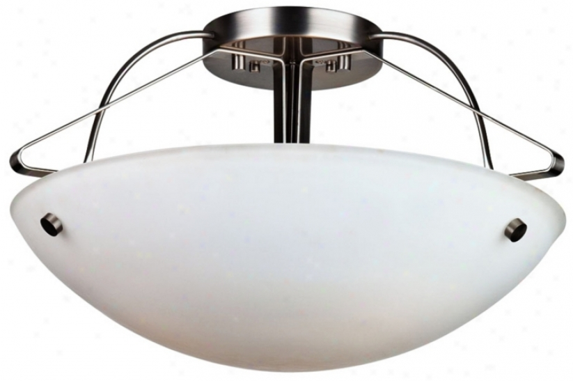 "Forecast Orb Coilection 21 1/2"" Wide Nickel Ceiling Light (96872)"