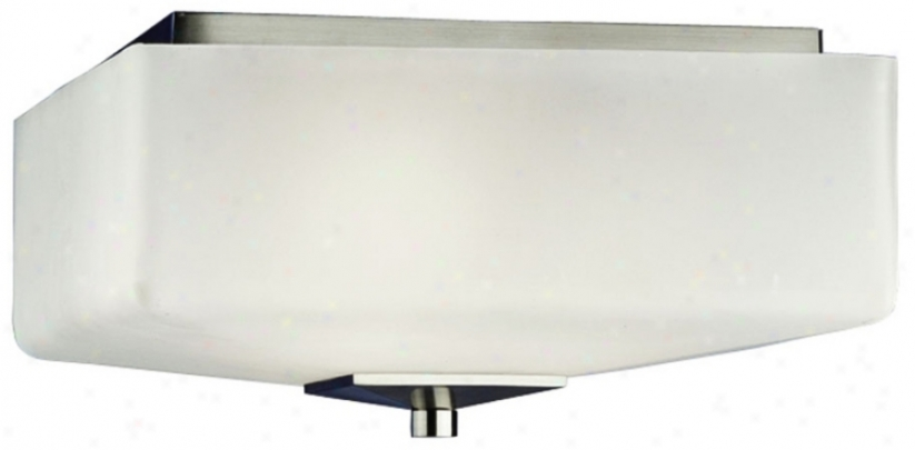 """Forecast Radius Collection 13"""" Wide Nickel Ceiling Light (21374)"""