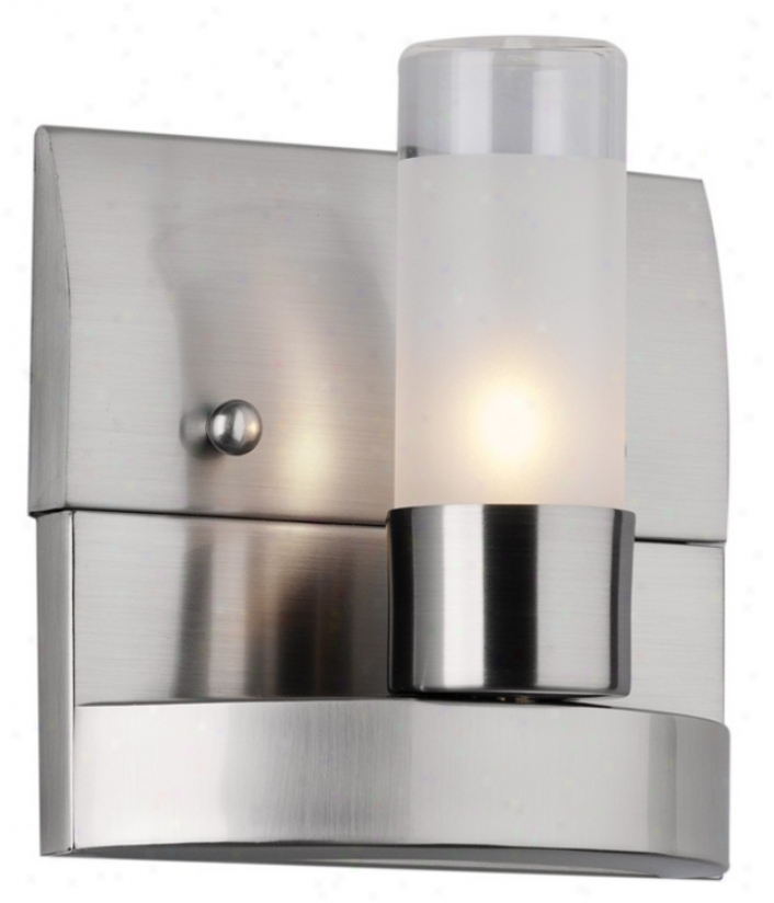 "Forecast Revolution Ada Compliant 4 1/2"" Nickel Wall Sconce (42710)"