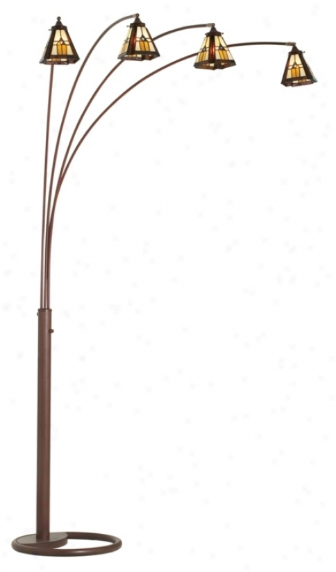 anterior limb bronze finish mission glass arc floor lamp 30721 62478. Black Bedroom Furniture Sets. Home Design Ideas