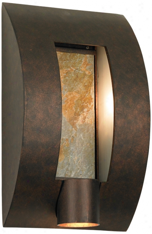 "Framed Slate Bronze Ada Compliant 16"" High Wall Light (95416)"