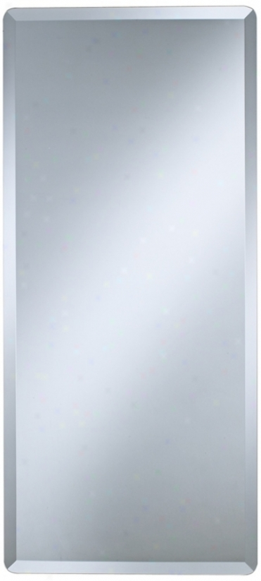 "Frameless Rectqngular 40"" High Beveled Wali Mirror (p1403)"