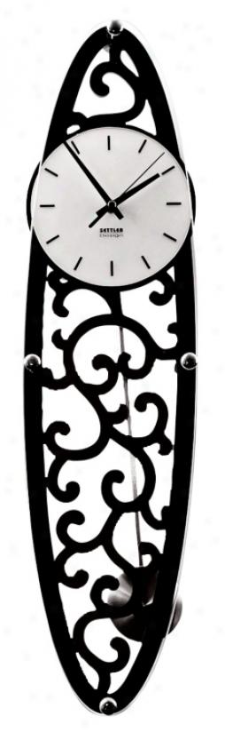 Francesca Wood G1ass Raised Wall Clock (h4655)