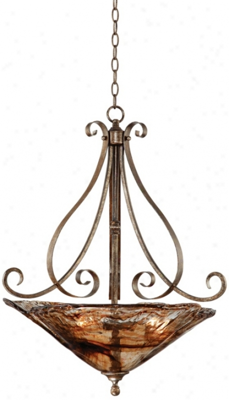 Frankiln Irkn Works Amber Scroll 24 3/4q&uot; Wide Chandelier (66096)