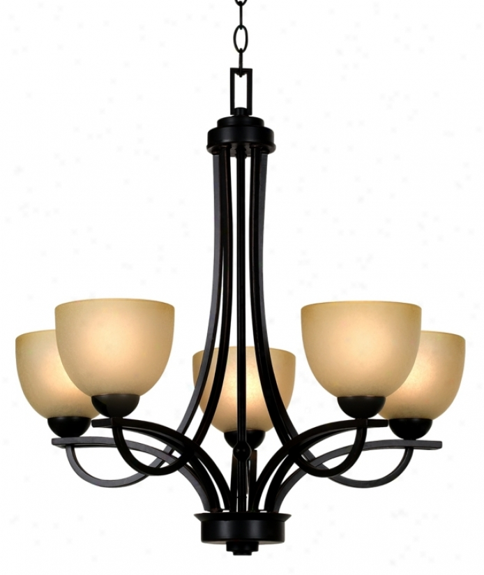 Franklin Iron Works Bennington Collection 5 Light Chandelier (05956)