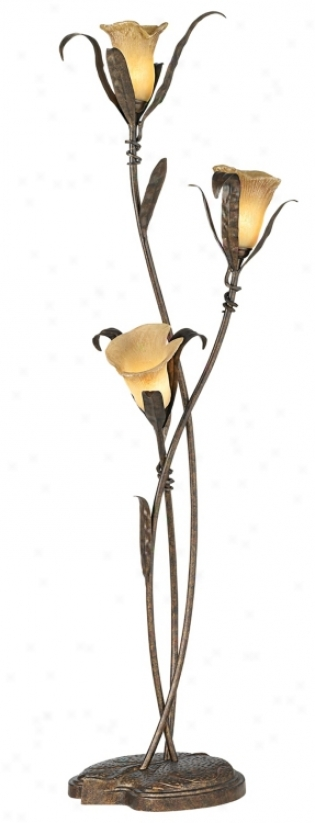Franklin Iron Works® Intertwined Lilies Floor Lamp (02350)