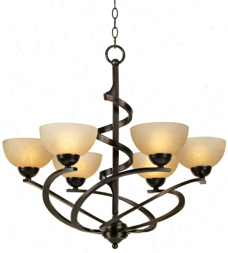 Franklin Iron Works™ Oil Rubbed Bronze Ribbon Chandelier (48298)