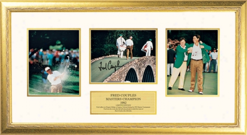Fred Couples Golf Gold Framed Three Photo Collage (f3370)