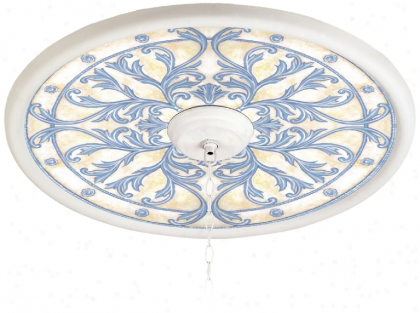 "French Villa 24"" Wide White 4"" Opening Medallion (94330-hh8816)"