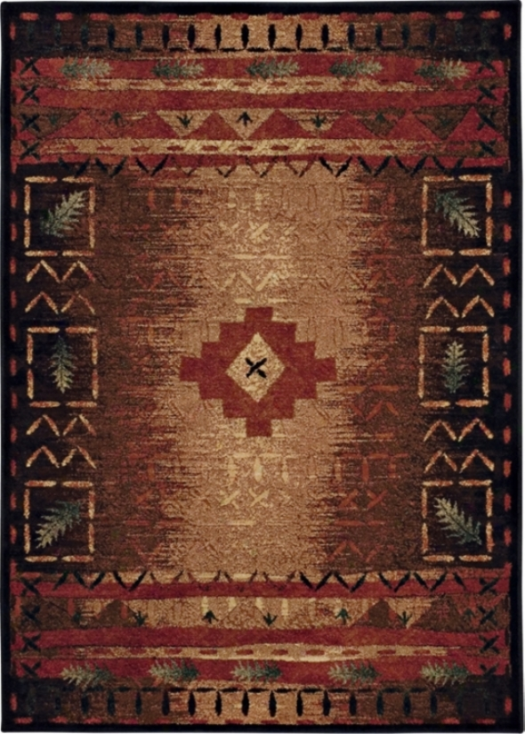 "Fresh Oxygen Brown Multicolor 7' 10""x10' 10"" Area Rug (f9527)"