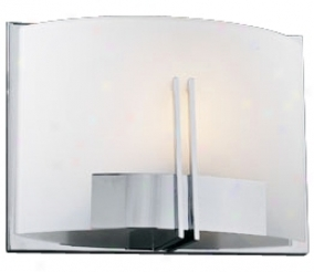 "Frost Glass And Chrome 12"" Wide Ada Wall Sconce (h4019)"