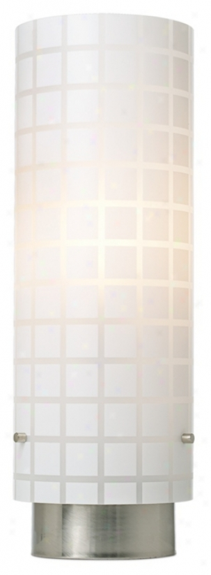 Frosted Squares Acrylic Shade Accent Light (92276)