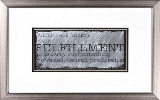 "Fulfillment Ii Silver Frame 22"" Wide Wall Art (h1948)"