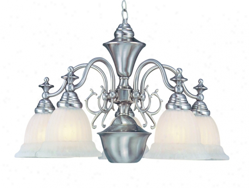 Fulton Collection Brushed Steel Chandelier (17623)
