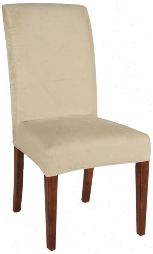Gabrielle Slipcovered Parsons Cherry Armless Dining Chair (79317-t6333)