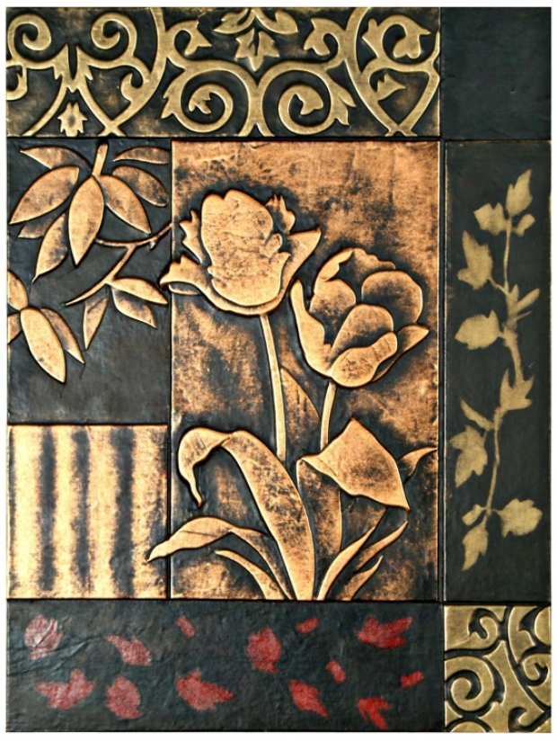 "Garden Embossed Faux Leather 24"" Equality Wall Art (j7997)"