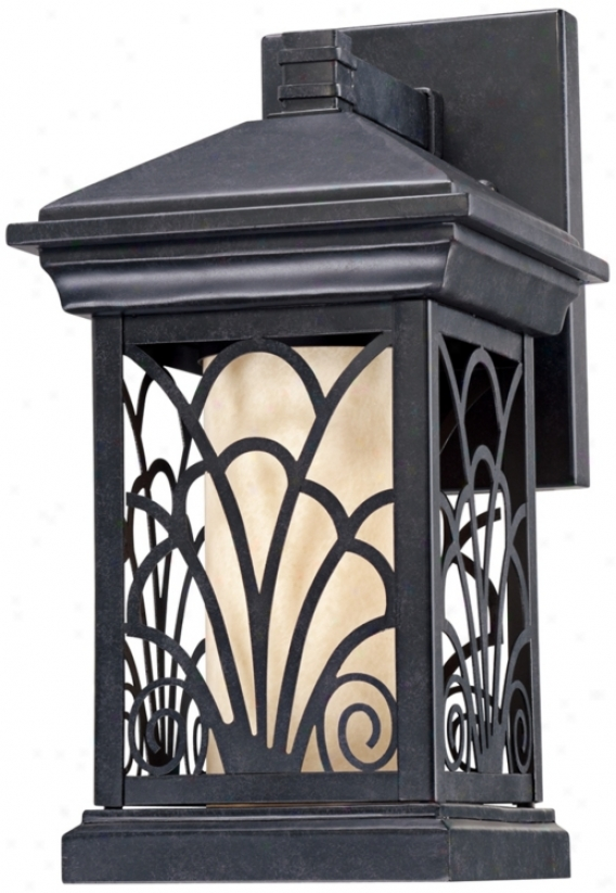 "Garden Gate Collection 15"" High Led Outdoor Wall Light (p5514-p3976)"